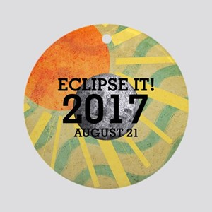 Eclipse 2017 Round Ornament