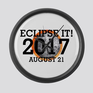 Eclipse 2017 Large Wall Clock