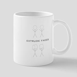extrude-black Mugs