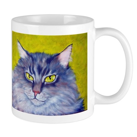 Longhaired Tabby Cat Mug