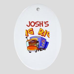 Josh's Big Rig Oval Ornament