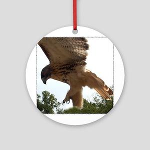 Ostara, Red Tailed Hawk Landi Keepsake (Round)