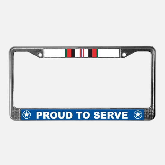 Afghanistan Campaign License Plate Frame