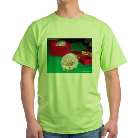 Holiday Hedgies Green T-Shirt