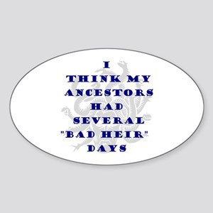 Genealogy Heirs Oval Sticker