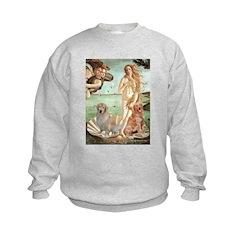 Venus / Two Golden Retrievers Sweatshirt