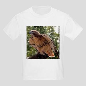 Red Tailed Hawk Ruffled Feath Kids T-Shirt