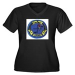 USS Gurnard Women's Plus Size V-Neck Dark T-Shirt
