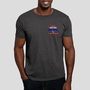 Army Wife Mom USAF Grandma Dark T-Shirt