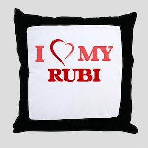 I love my Rubi Throw Pillow