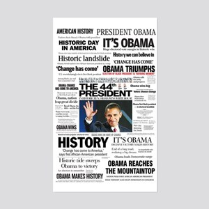 Obama: The 44th President Hea Rectangle Sticker