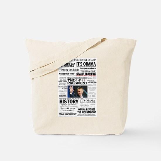 Obama: The 44th President Hea Tote Bag