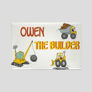 Owen the Builder Rectangle Magnet