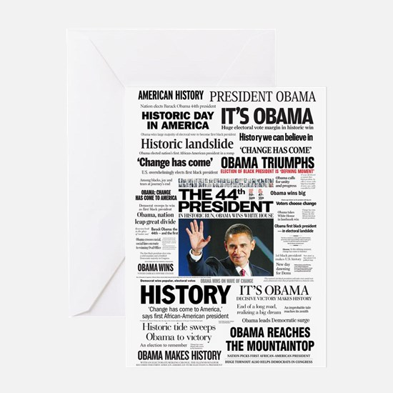 Obama: The 44th President Hea Greeting Card