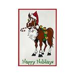 Santa Hat Horse Magnet