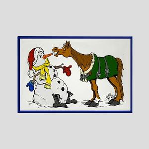 Horse & Snowman Magnet
