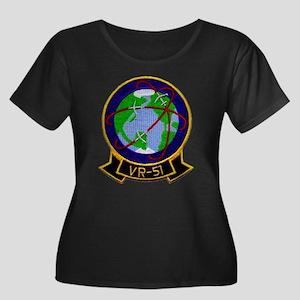 VR-51 Women's Plus Size Scoop Neck Dark T-Shirt
