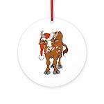 Christmas Cow Ornament