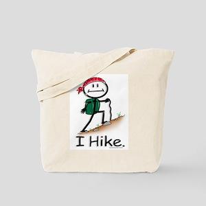 Hiking Stick Figure Tote Bag
