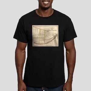 Vintage Map of Cincinnati Ohio (1841) T-Shirt
