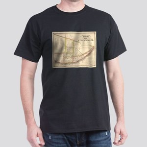 Vintage Map of Cincinnati Ohio (1841) T-Shirt