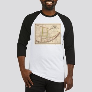 Vintage Map of Cincinnati Ohio (18 Baseball Jersey