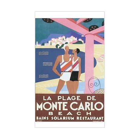Monte Carlo Monaco Rectangle Sticker