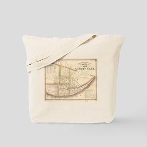 Vintage Map of Cincinnati Ohio (1841) Tote Bag