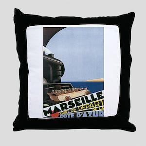 Marseille France Throw Pillow