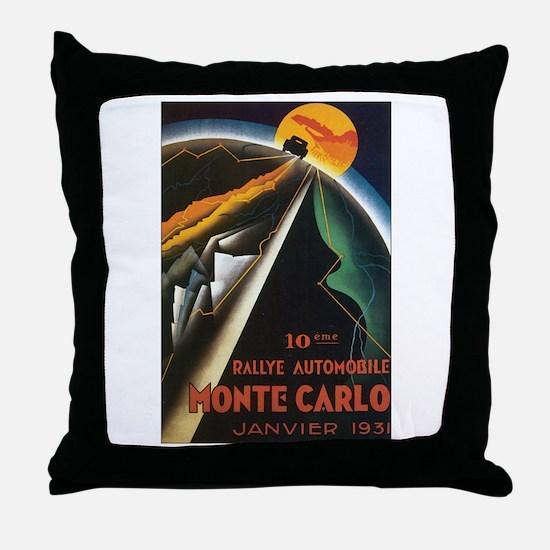 Monte Carlo Monaco Throw Pillow