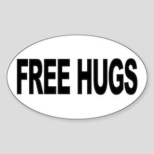 Free Hugs (L) Oval Sticker