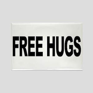 Free Hugs (L) Rectangle Magnet