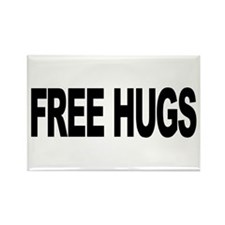 Free Hugs (L) Rectangle Magnet
