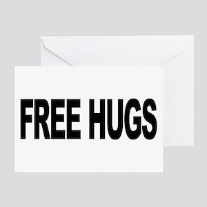 Free Hugs (L) Greeting Card