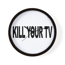 Kill Your TV (L) Wall Clock