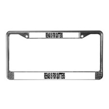 Rehab Is For Quitters (L) License Plate Frame