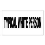 Typical White Person (L) Rectangle Sticker 50 pk)