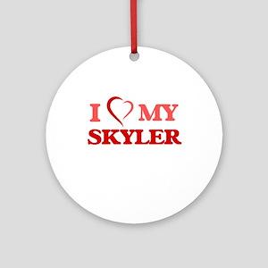 I love my Skyler Round Ornament