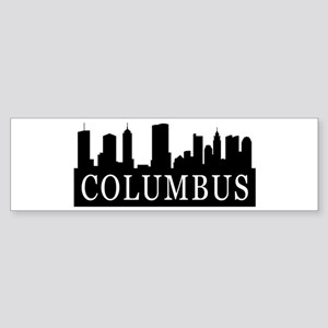 Columbus Skyline Bumper Sticker