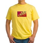 For the LOVE of DANCE Yellow T-Shirt