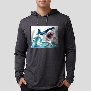 Megalodon Prehistoric Shark At Long Sleeve T-Shirt