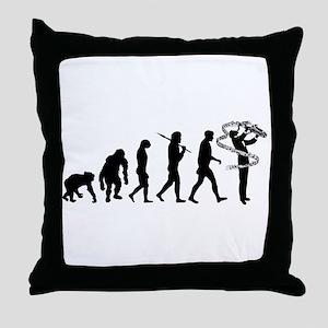 Saxophone Player Throw Pillow
