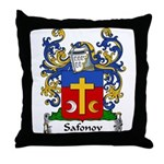 Safonov Family Crest Throw Pillow
