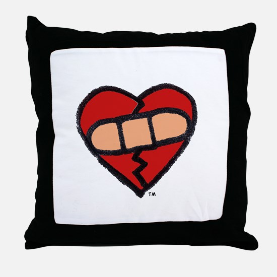 """""""Mended Heart"""" Throw Pillow"""