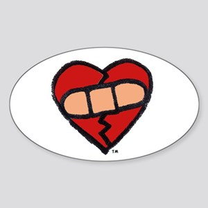 """Mended Heart"" Oval Sticker"