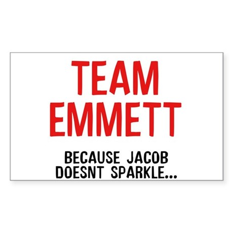 Team Emmett (Red) Rectangle Sticker 10 pk)