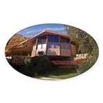 Elvis Honeymoon Hideaway Oval Sticker