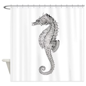 Vintage Seahorse Shower Curtains