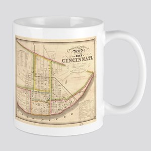 Vintage Map of Cincinnati Ohio (1841) Mugs