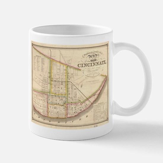 Vintage Map of Cincinnati Ohio (1841) Mugs